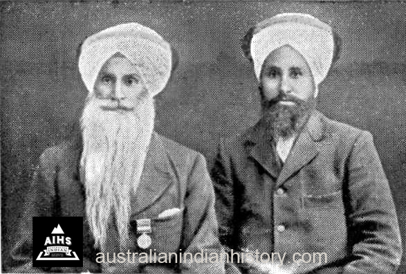 Sikhs – Foundation Members Of The R.S.L – Esur & Nurain Singh
