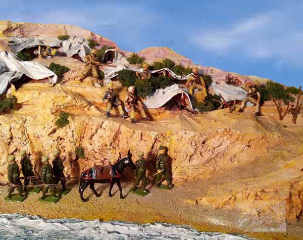 Indian Bivouacs At Anzac Cove Dardanelles Diorama By Crystal Jordan