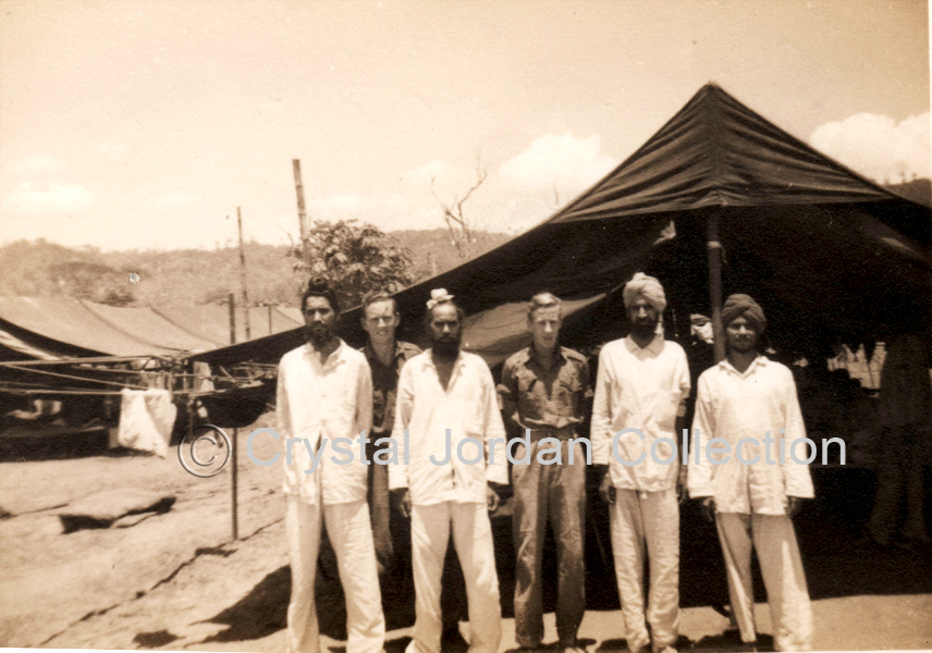 Sikh POWs At Rabaul WWII. Photo: D. McLennan In Centre.