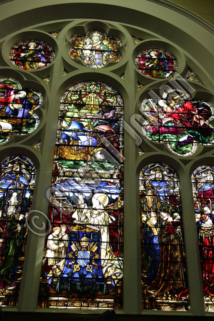 Lepanto Window, Our Lady of Victories Basilica, Camberwell, Victoria. Photo: Crystal Jordan