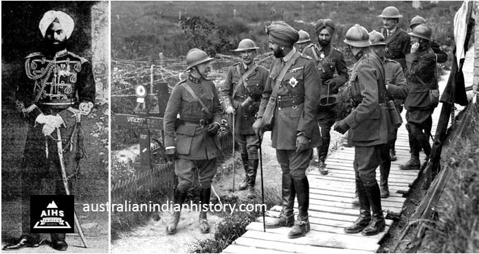 Left: Jaswant Singh Aide De Camp To The Maharajah Of Patiala, India. Photo Taken In Australia. Right: Maharaja Of Patiala, India In Belguim With His Aide De Camp In The Centre Background. Photo Courtesy Of The Belgian Army Museum.