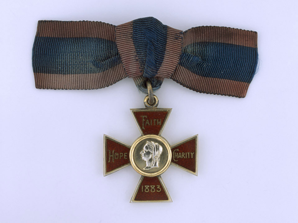 Teresa McGrath was awarded the Royal Red Cross by Her Majesty Queen Victoria.