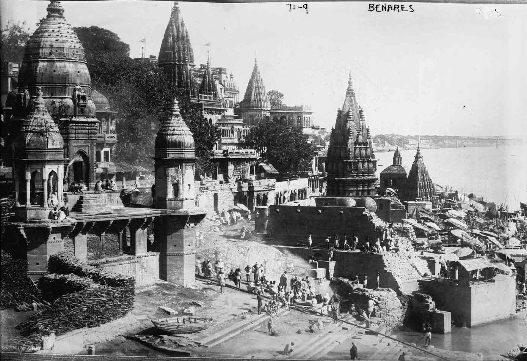 Benares, Varanasi, India. Photograph Taken In 1922. Courtesy Of Repository, Library Of Congress Prints And Photographs Division Washington, D.C USA.