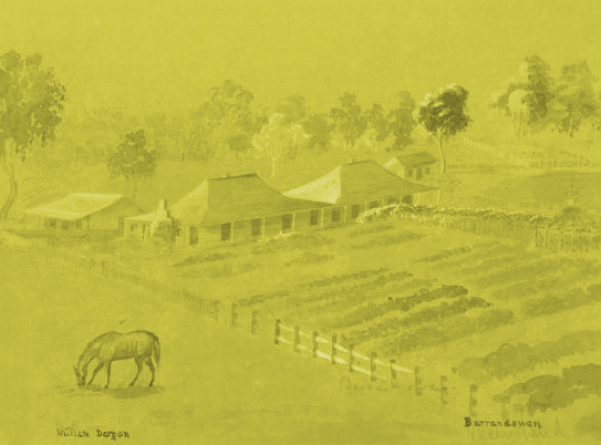 Burrandowan Sheep Station 1860's by William Dargan, NLA.