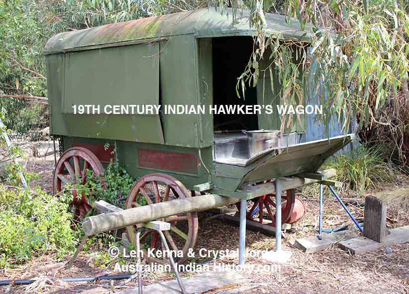 !9th Century Indian Hawker's Wagon.  Ph: Crystal Jordan