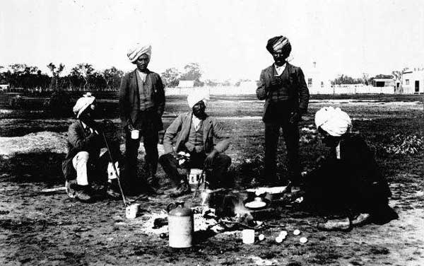 Isallah Singh's Birthday Party 1899 At Jeparit, Victoria.  Photo: E. R. Pearce, Jeparit, Vic.