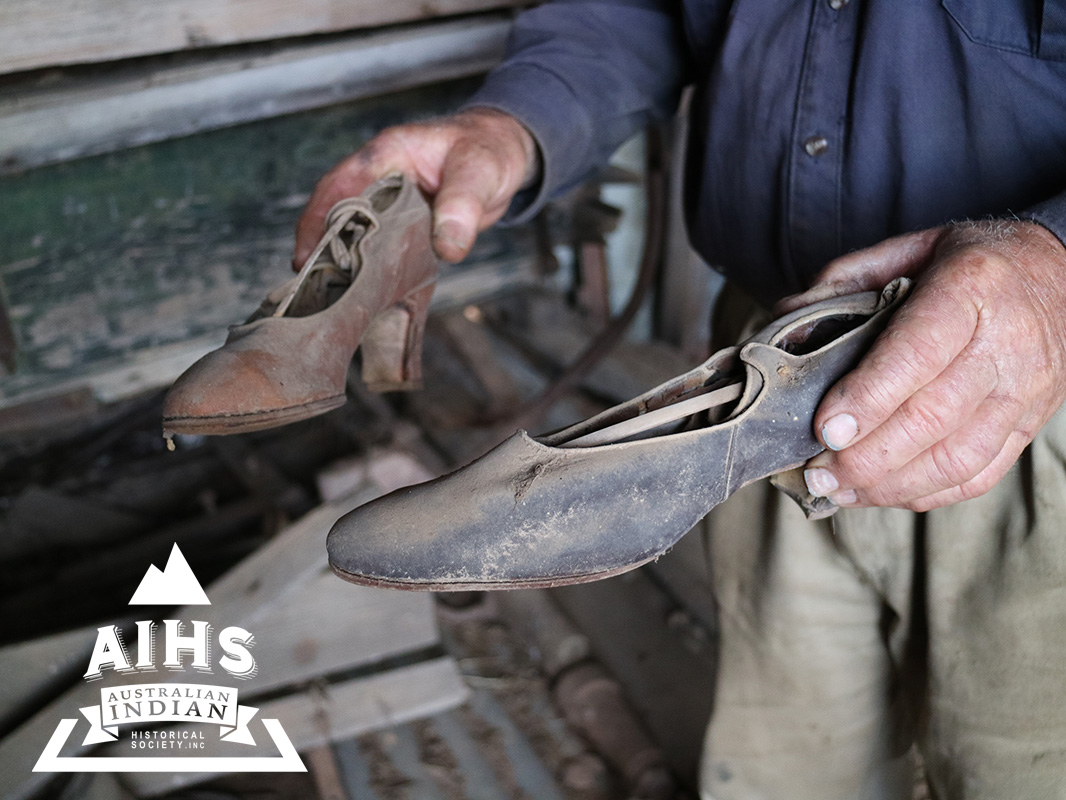 Shoes Found In Siva Singh's Hawker's Wagon. Ph: Crystal Jordan.
